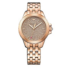 Juicy Couture - Ladies stainless steel bracelet with gold dial