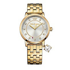 Juicy Couture - Ladies gold plated stainless steel bracelet with sliver dial