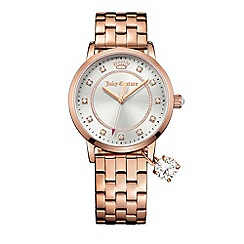 Juicy Couture - Ladies  rose gold plated stainless steel bracelet with sliver dial