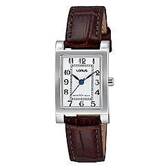 Lorus - Women's brown strap dress watch