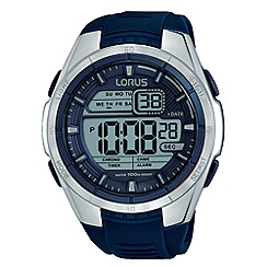 Lorus - Unisex blue silicone strap digital watch