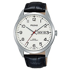 Pulsar - Gents stainless steel silver dial strap watch
