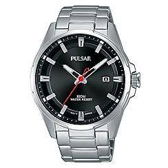 Pulsar - Gents sport black dial bracelet watch