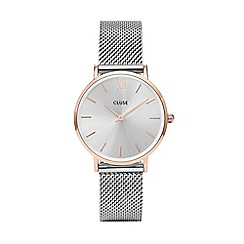 Cluse - Ladies' silver 'Minuit' mesh strap watch