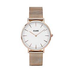 Cluse - Ladies' rose gold 'la boheme' mesh strap watch