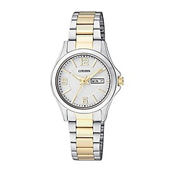 Citizen - Ladies gold and silver bracelet watch