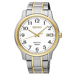 Seiko - Men's two tone bracelet watch