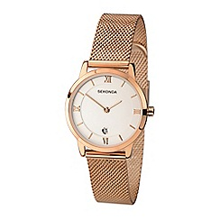 Sekonda - Ladies rose gold plated watch
