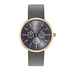 watches for men debenhams ted baker gents grey leather strap watch