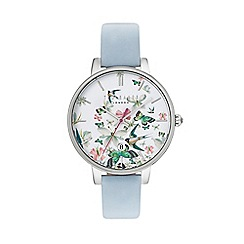 Ted Baker - Ladies blue leather strap watch