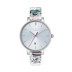 Ted Baker - Ladies print leather strap watch