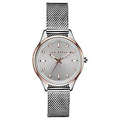 Ted Baker - Ladies silver stainless steel mesh bracelet watch