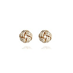 Anne Klein - Gold tone knot stud earrings