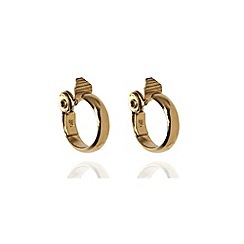 Anne Klein - Gold tone large hoop earrings