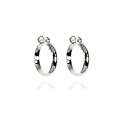 Anne Klein - Silver tone large hoop earrings