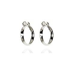 Anne Klein - Silver tone large hoop earrings