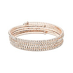 Anne Klein - Rose gold tone multi row crystal stone bracelet