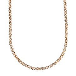 Anne Klein - Gold tone pave crystal necklace