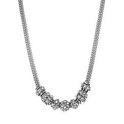 Anne Klein - Silver tone round mesh necklace