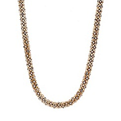 Anne Klein - Gold tone crystal pave collar necklace
