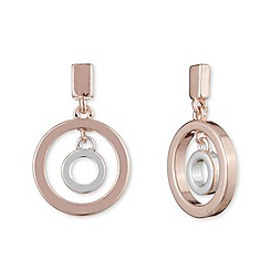 Anne Klein - Multi orbital post silver and rose gold earrings