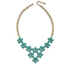 Fiorelli - Four blue stone flower necklace