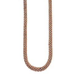 Fiorelli - Rose gold plate chunky bead necklace