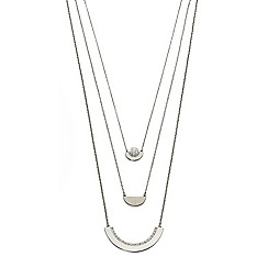 Fiorelli - Pearl Swarovski semicircle 3 layer necklace