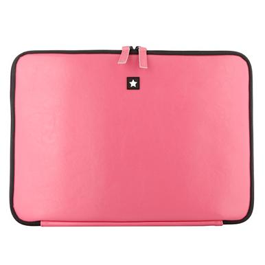 Pink Leather Laptop Case