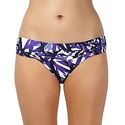 J by Jasper Conran - Designer purple leaf ring side bikini bottoms