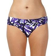 Designer purple leaf ring side bikini bottoms