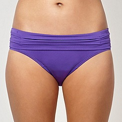 J by Jasper Conran - Designer purple pleat fold over bikini bottoms