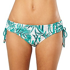 Beach Collection - Green bamboo fold bikini bottoms