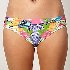 Butterfly by Matthew Williamson - Designer purple floral snake printed bikini bottoms