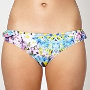 Blue kaleidoscopic fish printed bikini bottoms
