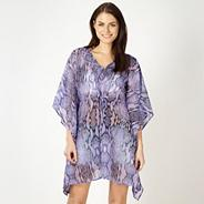 Designer purple snake printed kaftan top