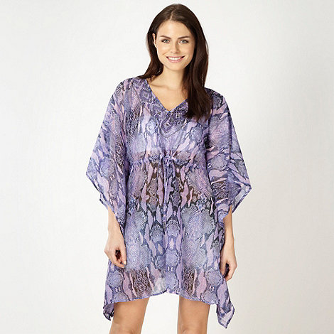 Butterfly by Matthew Williamson - Designer purple snake printed kaftan top