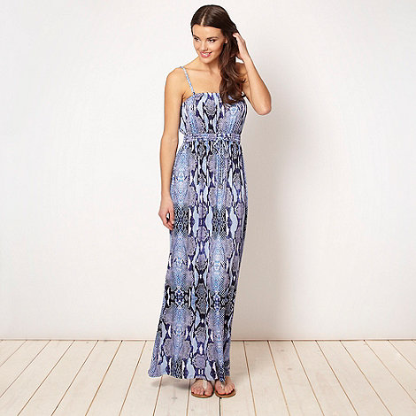 Butterfly by Matthew Williamson - Designer purple snake jersey maxi dress