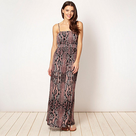 Butterfly by Matthew Williamson - Designer chocolate snake jersey maxi dress