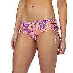 Mantaray - Purple tonal ruched bikini bottoms