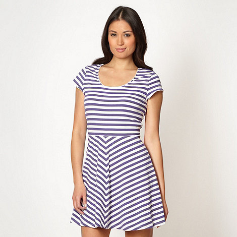 Floozie by Frost French - Navy striped skater night dress