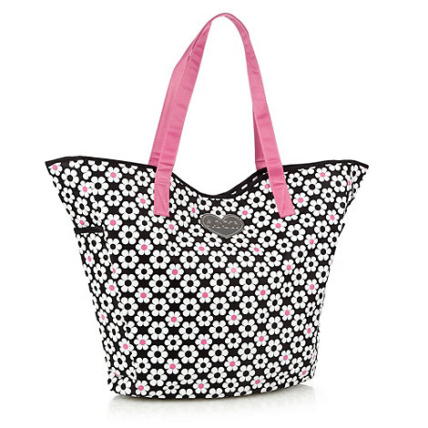 Floozie by Frost French - Black daisy patterned shopper bag