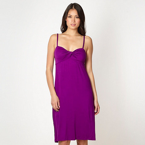 Beach Collection - Purple twist front jersey beach dress