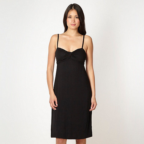 Beach Collection - Black twist front jersey beach dress