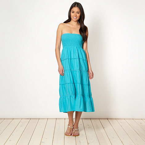 Beach Collection - Turquoise 2 in 1 dress skirt
