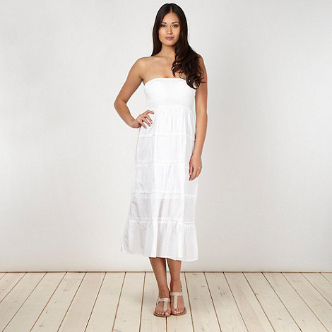 Beach Collection - White 2 in 1 dress skirt