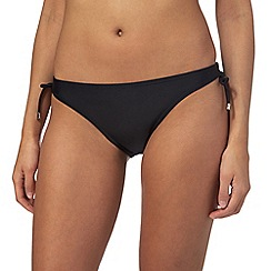 Beach Collection - Black tie side bikini bottoms