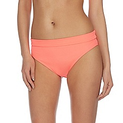 Beach Collection - Coral folded bikini bottom