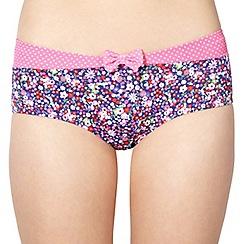 Ultimate Beach - Navy floral shorts bikini bottoms