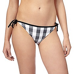 Red Herring - Black gingham print bikini bottoms